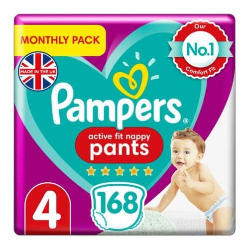 Pampers Active Fit Nappy Pants Size 4 / 5 / 6